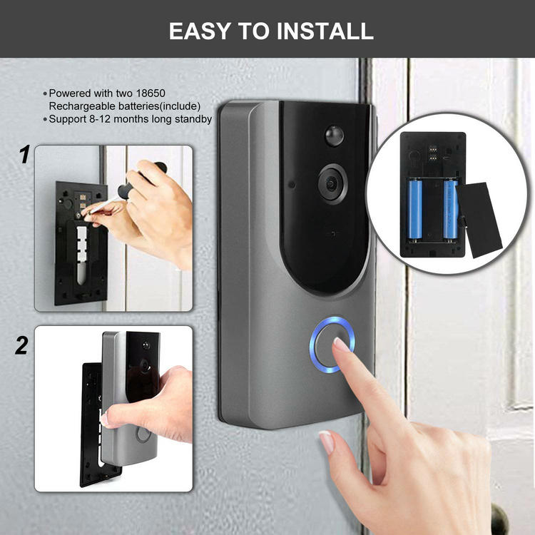 Low power consumption wifi doorbell installation