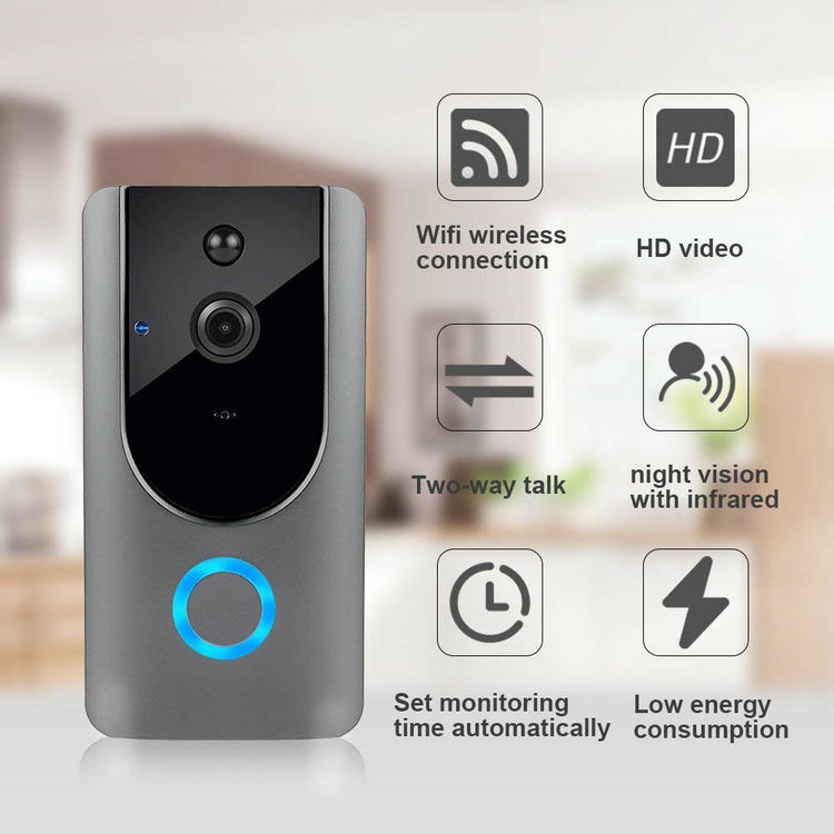 Low power consumption wifi doorbell VD-19W function
