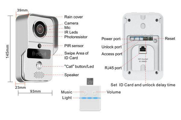 Mobile unlock Wifi video door phone camera VD-IP03C--Joney