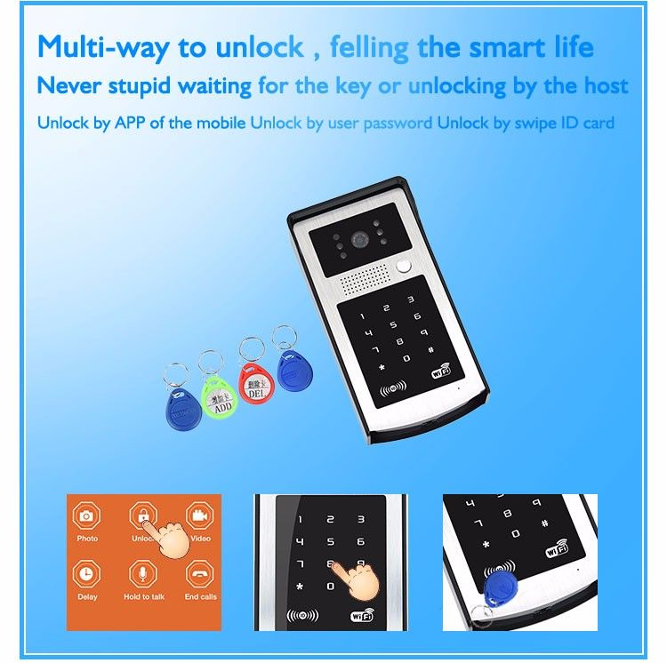Mobile unlock Wifi video door phone camera VD-OL08WIFI detail