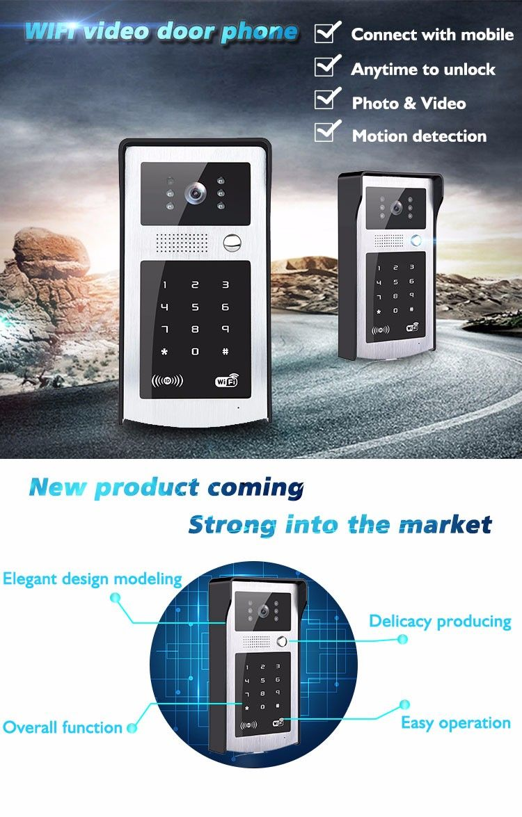 Mobile unlock Wifi video door phone camera VD-OL08WIFI Part function