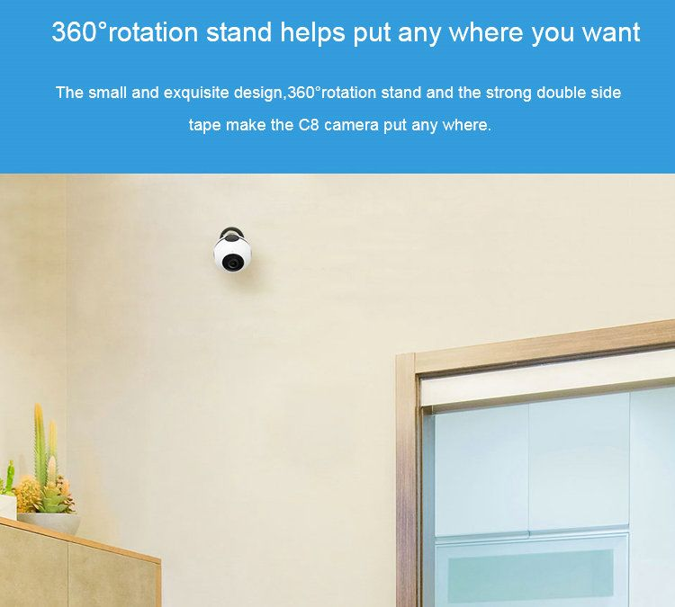 Mini Battery Powered WIFI IP camera JY-C8 installation