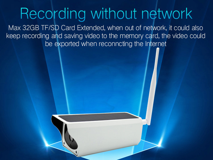 Battery Powered WIFI IP camera IPC-A3B recording without network