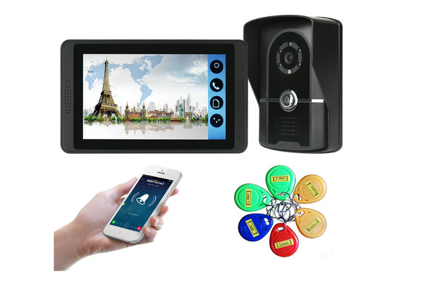7 inch monitor Mobile unlock wifi video door bell