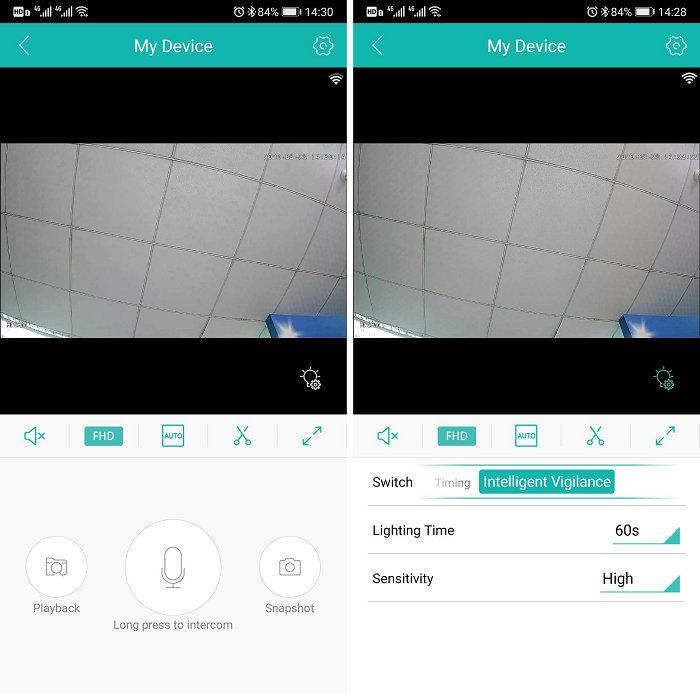 WIFI floodlight IP camera JY-GL530 APP Main interface