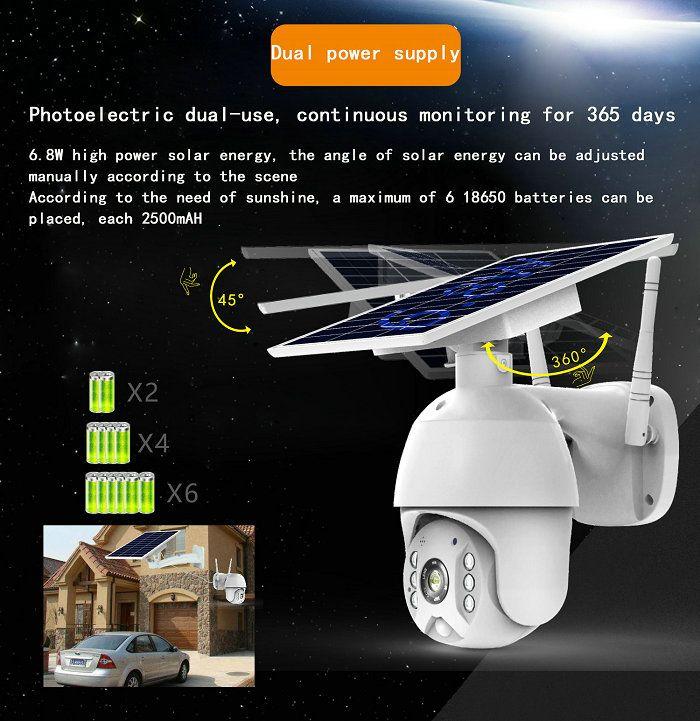 UBox mini solar ptz camera S10-4G Solar powered