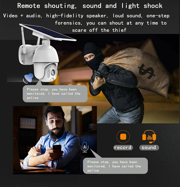 UBox mini solar ptz camera S10-4G Voice intercom