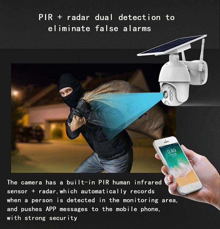 UBox mini solar ptz camera S10-4G PIR+Radar alarm
