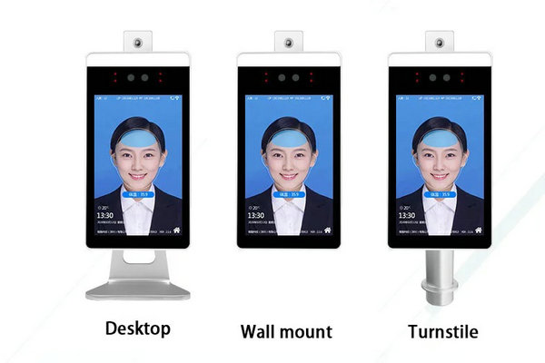 KT07 face recognition with temperature detection access control system