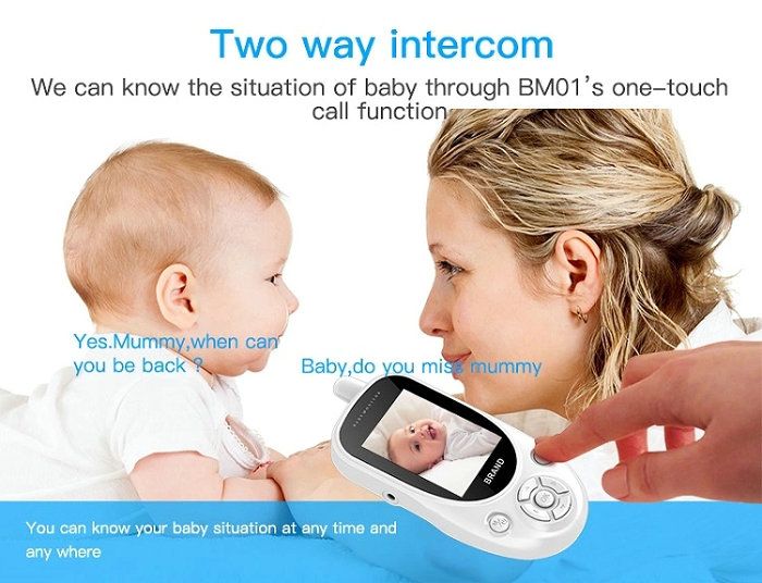 HD screen baby monitor Camera JY-BM01 Two way intercom