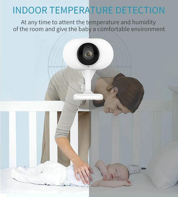 HD screen baby monitor Camera JY-BM02 Indoor Temperature Detection