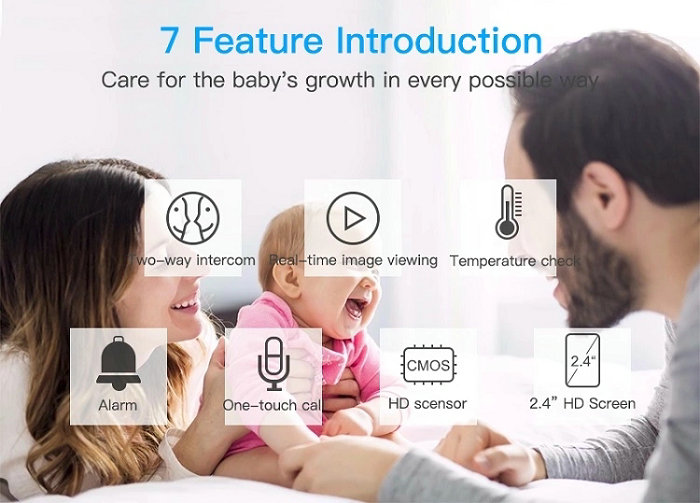 HD screen baby monitor Camera JY-BM01 7 Feature Introduction