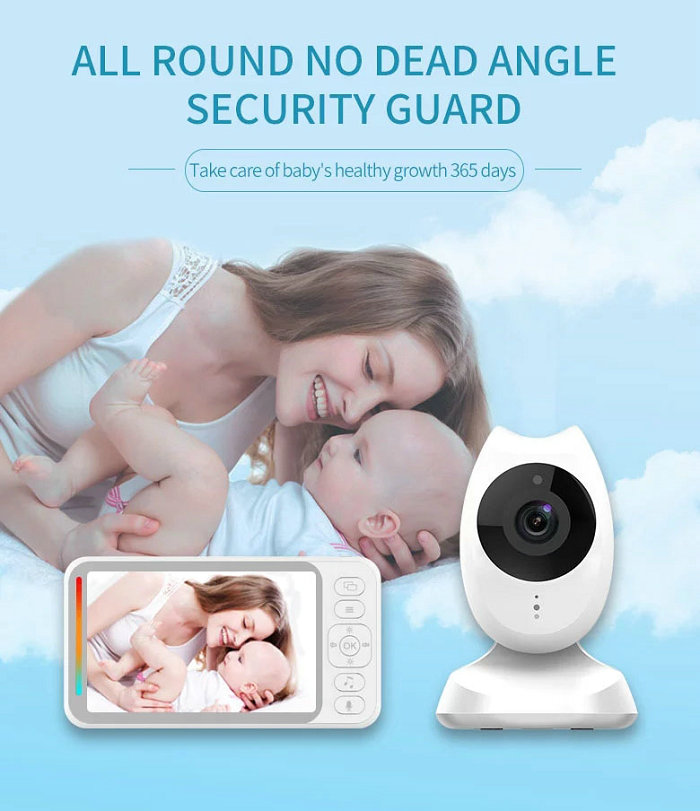 HD screen baby monitor Camera JY-BM04 All Round No Dead Angle Security Guard