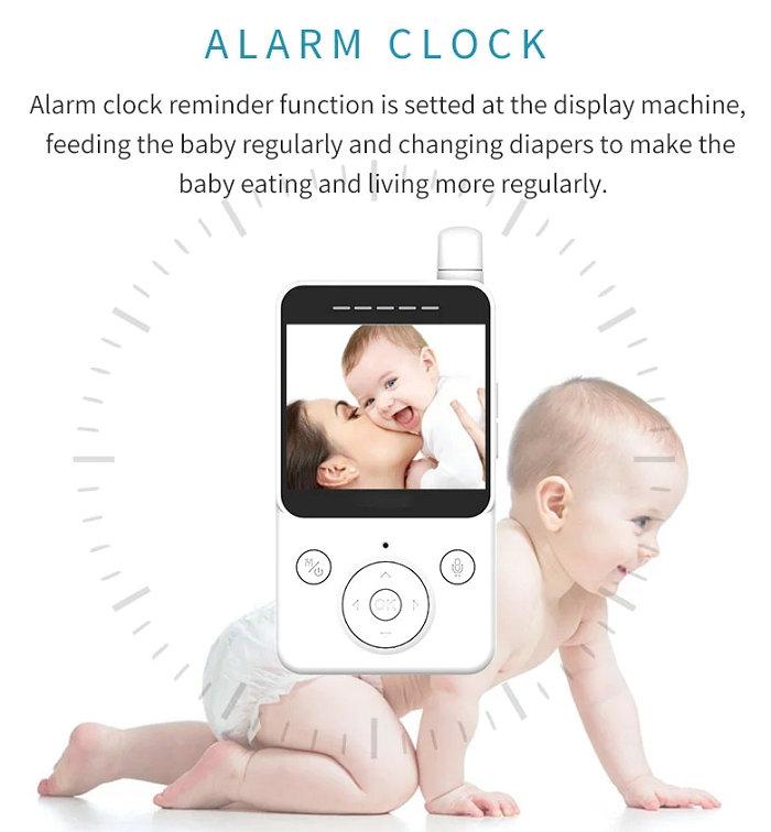 HD screen baby monitor Camera JY-BM02 Alarm Clock