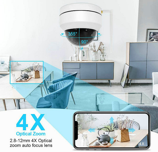 WIFI IP PTZ CAMERA IPC-PTZ1008LX-WIFI 4X Zoom