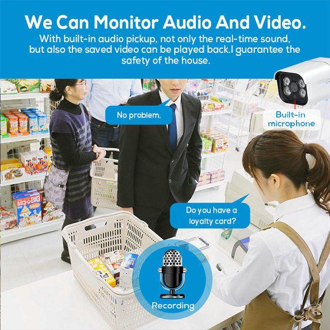 8CH H.264/H.265 POE NVR kit IPC-8Kit4700-POE-5.0MP  fluent two-way voice